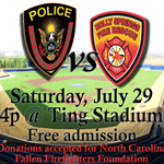 Police vs Fire Softball Game