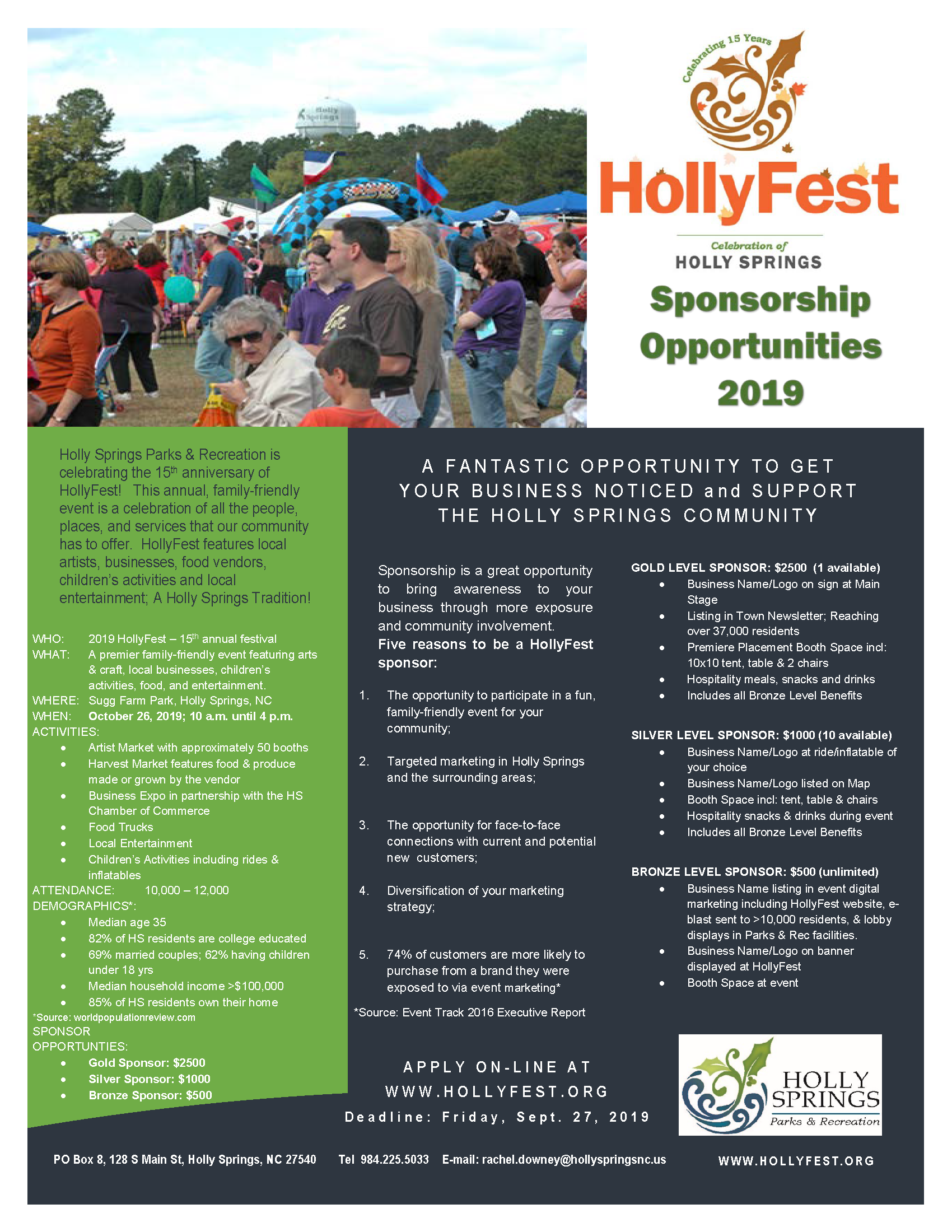 HollyFest 2019 Sponsorship