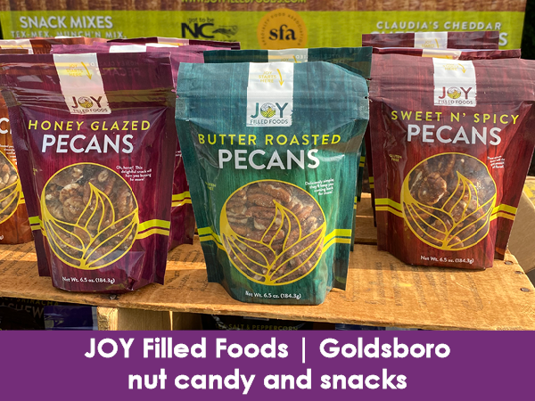 Joy Filled Foods, Goldsboro, nut candy and snacks