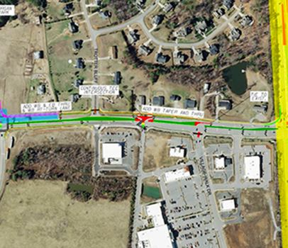 Map of Avent Ferry Road widening project