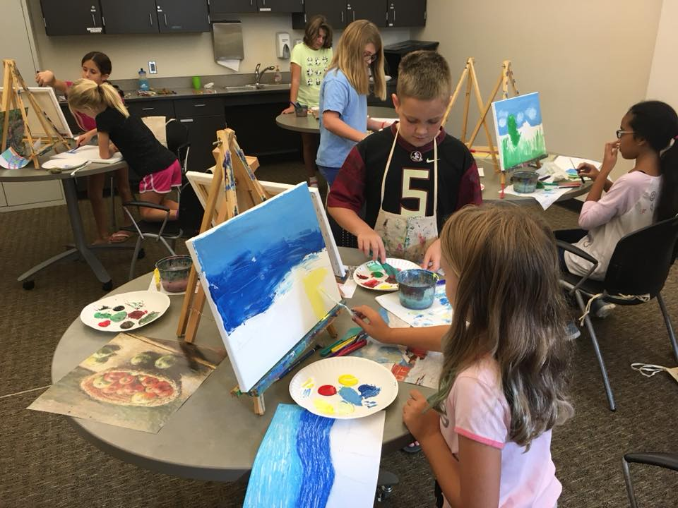Kids Acrylic Class at Holly Springs Cultural Center