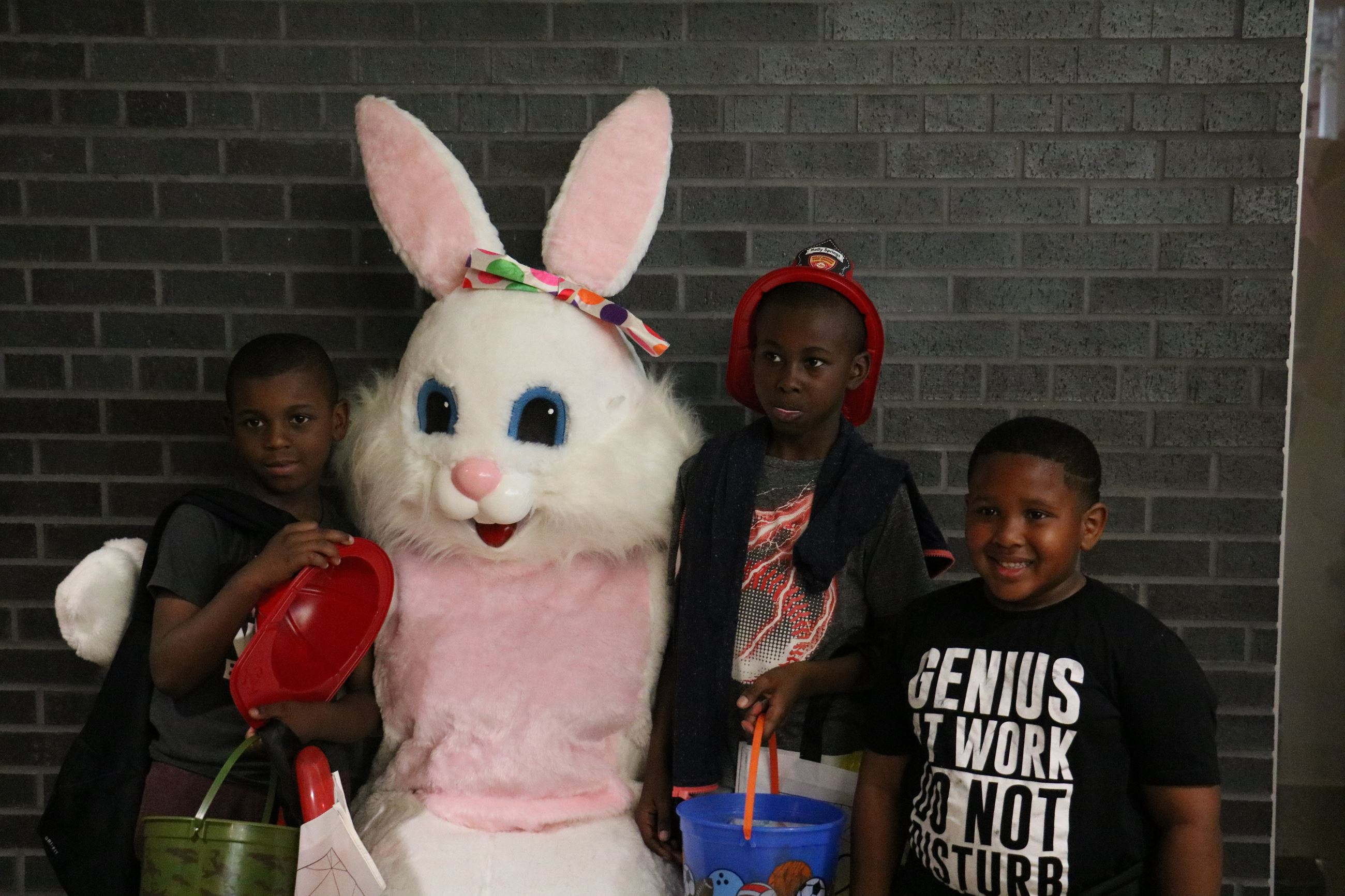 Kids Visiting the Easter Bunny