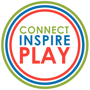 Connect, Inspire, Play logo